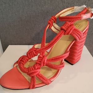 CAbi Red Woven Strappy Sandal